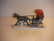 Dept 56 One Horse Open Sleigh Figurine/Nice Cond.