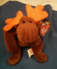 Rare Retired Original Ty Beanie Baby Chocolate the Moose w/ P.E. Pellets
