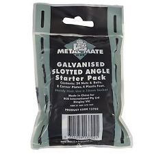 Metal Mate GALVANISED SLOTTED ANGLE STARTER PACK 24Nuts & Bolts SILVER*AUS Brand