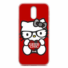 For ZTE Blade Spark/Grand X 4 X4 Case Cover Skin Hello Kitty Nerd Red