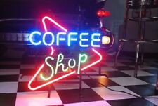 "New Coffee Shop Neon Light Sign 17""x14"" Beer Gift Bar Lamp Glass Artwork Glass"