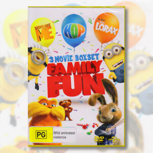 Family Fun 3 Movie Boxset - Despicable Me / Dr. Seuss The Lorax / Hop DVD   NEW