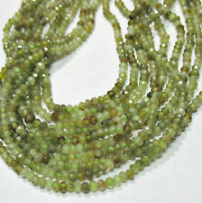 "Grossular Green Garnet 2x3mm Faceted Rondelle Beads 15.5"" Strand"