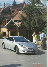 TOYOTA CELICA ACCESSORIES SALES BROCHURE OCTOBER 2003 FOR 2004