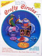 Plastic Canvas Pattern Book Crafty Circles Boxes Baskets Ornaments Darice VTNS
