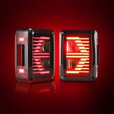 EU Version Black LED Tail Lights LED Lamps With Brake for Jeep Wrangler JK 07-18