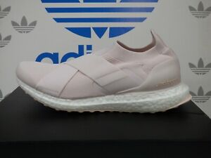 NEW ADIDAS ULTRABOOST Slip On DNA Women's Running Shoes, Pink/White; GZ9847