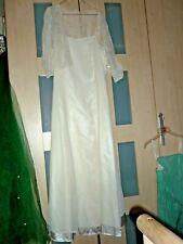 Spitze Standesamt Brautkleid Hochzeitskleid Kleid Braut Grösse 46 -48 XXL ivory