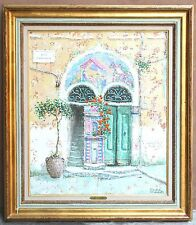 MAGNIFICENT ITALIAN OIL ON CANVAS PAINTING BY ANDRE ANDREOLI LISTED ARTIST