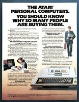 "1980 Atari 400 Personal Computer photo ""The Revolution Starts"" vintage print ad"