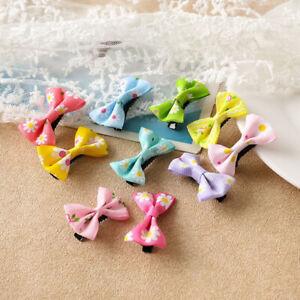 Sweet Girls Hair Clips Mini Kids Hairpins Bow Barrettes Floral Hair Accessories