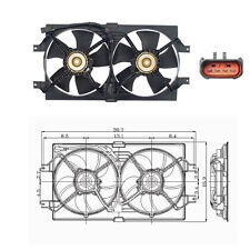 Dual Rad & Cond Fan Assembly Fits 1998 - 2004 Chrysler Concorde / Dodge Intrepid