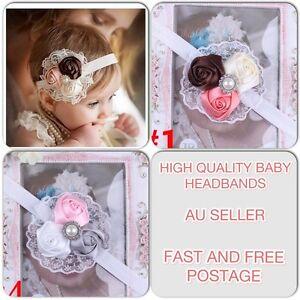 NEW Rose Baby Infant Toddler Girls Hairband Head Band Christening