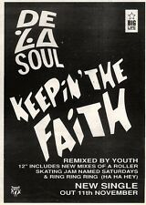 9/11/91 Pgn10 Advert: De La Soul keepin The Faith A New Single Out Now 7x5""