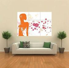 GIRL WOMAN DJ DANCE NEW GIANT POSTER WALL ART PRINT PICTURE G195
