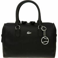 LACOSTE Women's Handbag Black Textured Grab Bag, rrp: £170, *100% AUTHENTIC*