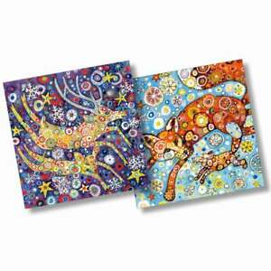 Reindeer and Foxes Christmas Cards by Sally Rich 10 Card Pack 2 Designs