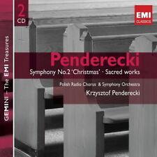 Krzysztof Penderecki Symphony Nr. 2 Geistliche Werke 2008 EMI Doppel CD
