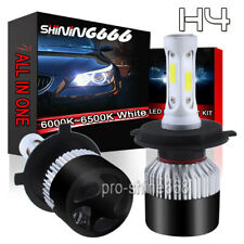 H4 9003 HB2 LED Headlight Bulb Conversion Kit Hi/Low Beam 6000K 198000LM 1320W