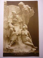 Antique French Postcard Alfred de Musset  Statue 1910
