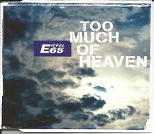 EIFFEL 65 Too Much of Heaven RADIO MIX & UNRELEASED CD Single SEALED USA Seller