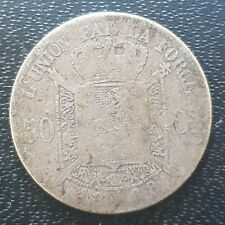 More details for 1868 belgium leopold ii 50 centimes - key date coin