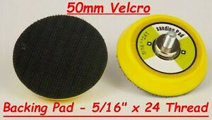 """Hook and Loop Backing Pad 50mm 2"""" For Mini Sanders and Polishers"""