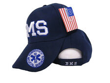 Embroidered Royal Blue EMS Medical Shadow baseball style Cap Hat