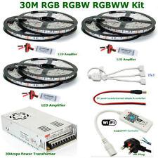 5M to 30M 5050 RGB RGBW RGBWW Light IP65 Waterproof + Wifi Smart Phone R.C + PSU
