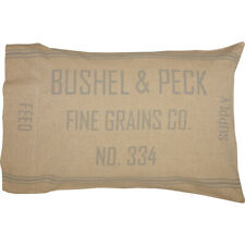 GRACE FEED SACK Standard Pillow Case Set Grain Sack Stripe Farmhouse VHC Brands