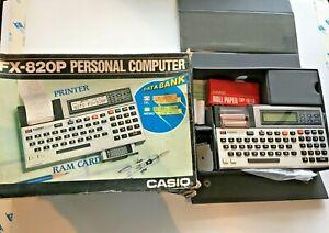 Vintage Casio FX-820P Pocket Computer Data Bank Boxed. Rare. N/W