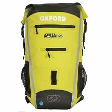 Oxford EAU B25 imperméable moto scooter Sac à dos jaune 25L hivis