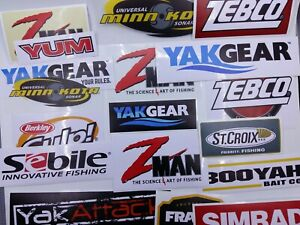 Fishing Stickers Graphic  LOT of (18) Decals