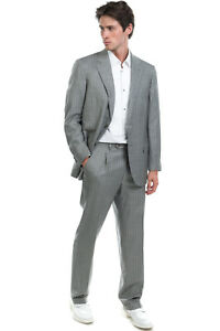 RRP €3130 BRIONI Silk & Wool Suit Size 54 / 2XL Pinstripe Pattern Made in Italy