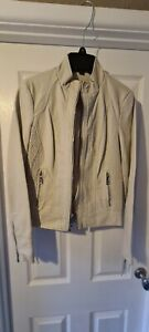 Guess Ladies Biker Jacket Nude. Faux leather. Size XS BNWT RRP £130