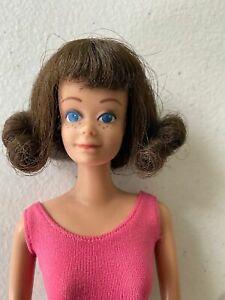 VINTAGE 1960's Barbie Doll Brunette Midge STRAIGHT LEG Original Swim Suit #860