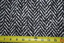 Rayon Crepon woven fabric natural fiber Black and natural chevron print zig zag