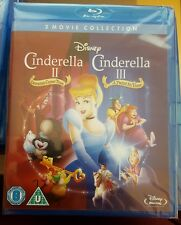 DISNEY'S CINDERELLA 2 & 3   COLLECTION BLU RAY - NEW/SEALED