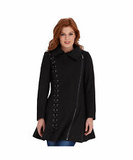 Women's Polyester No Pattern Zip Hip Length Coats & Jackets