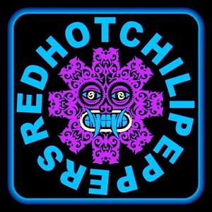 """RARE 4.5"""" Red Hot Chili Peppers Tribal vinyl sticker. 90's decal for guitar."""