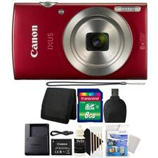 Canon IXUS 185 / ELPH 180 20MP Digital Camera Red and 8GB Accessory Bundle