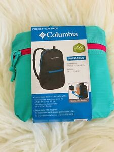 NWT Columbia Pocket Daypack Backpack Green And Pink