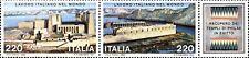 1980  ITALIA IL LAVORO ITALIANO  2 VALORI BLOCCO  NUOVO ** MNH (C1494
