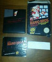 Super Mario Bros Nintendo Nes Game Pal Boxed GC manual, poly & cover