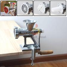 Meat Grinder Mincer Stuffer Table Hand Manual Sausage Filler Sauce Maker Machine