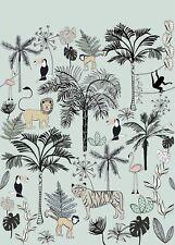 Rasch Tapete 842197 Bambino XVIII Wandbild Tiere Dschungel Kinderzimmer
