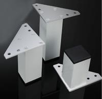 4Pcs Aluminum Furniture Legs Metal Sofa Feet Cabinet Bed Table Cupboard 6~12cm H