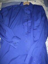 "2 PREMIER PR200 Men's Poplin lavoro Blu shirt 16 & 17 ""COLLARE 1 breve / 1 manica lunga"