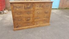 SOLID WOOD RUSTIC CHUNKY PLANK 10 DRAWER CHEST OF DRAWERS , WOODEN DRAWER SET
