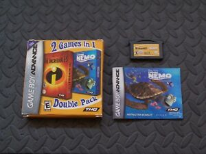 The Incredibles / Finding Nemo (Game Boy Advance) With box and Instructions